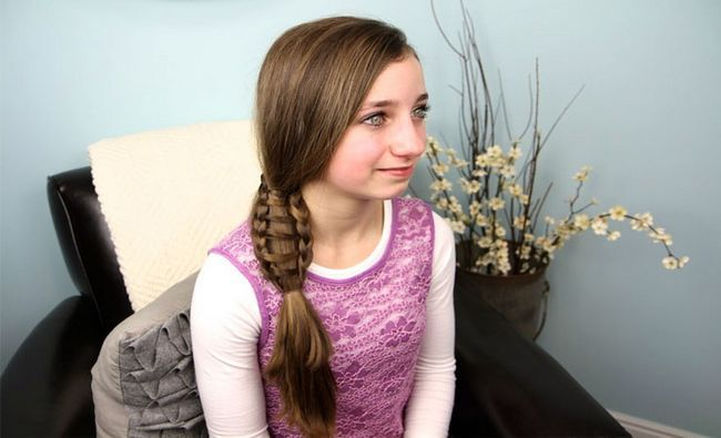 Fotografía - 14 preciosas trenzas para el pelo largo