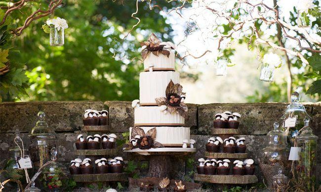 Fotografía - 19 ideas mejores y únicos para las tortas de boda rústico