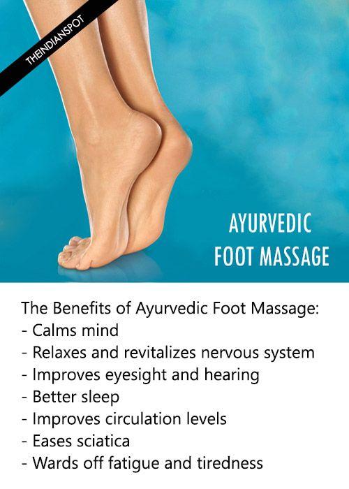 Fotografía - Masaje de pies de Ayurveda - beneficios y cómo