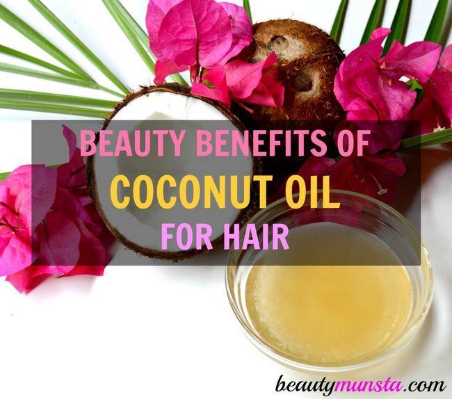 Fotografía - Acciones de Belleza de aceite de coco para cabello y cuero cabelludo