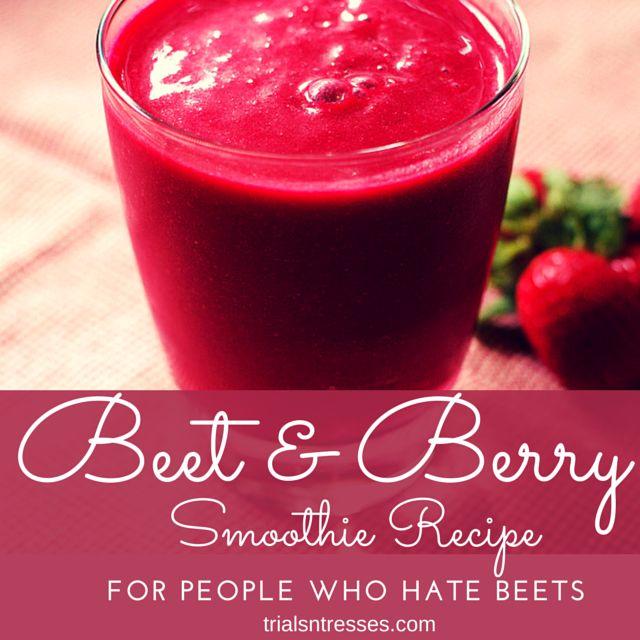 Fotografía - Remolacha & Berry Smoothie receta (para la gente que no amaban a las remolachas)