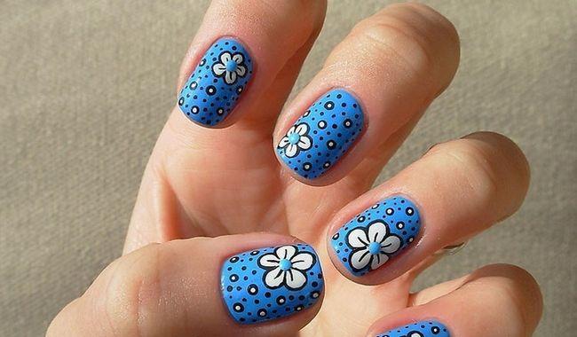 Fotografía - Azul Diseños de uñas: 20 Fantabulous creaciones para mujeres con estilo