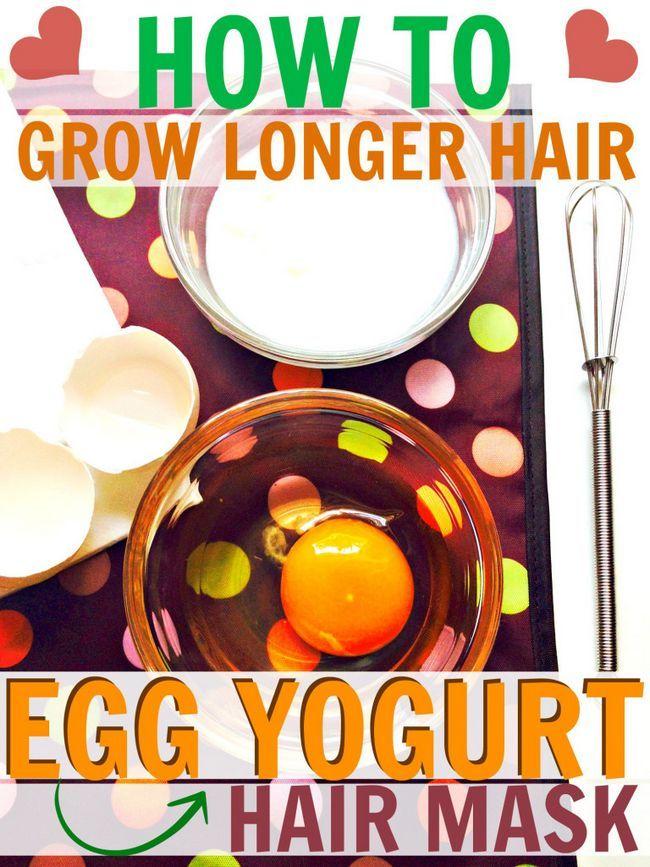 Fotografía - Huevo y Yogur Hair Mask Receta para un crecimiento fuerte, de pelo largo