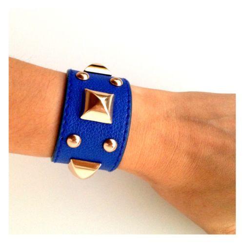 azul de imitación de cuero brazalete