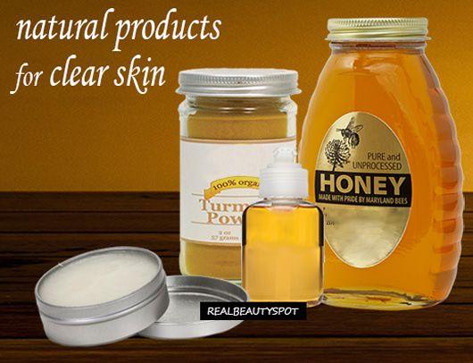 Fotografía - Tenga claro mancha la piel libre con productos naturales