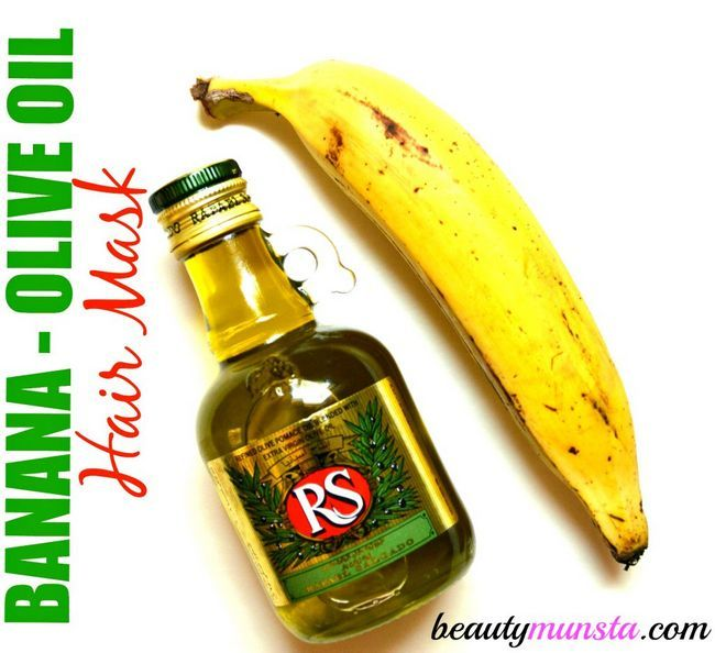 Fotografía - Obtener Luscious Locks: Máscara plátano Aceite de Oliva de pelo para el cabello dañado