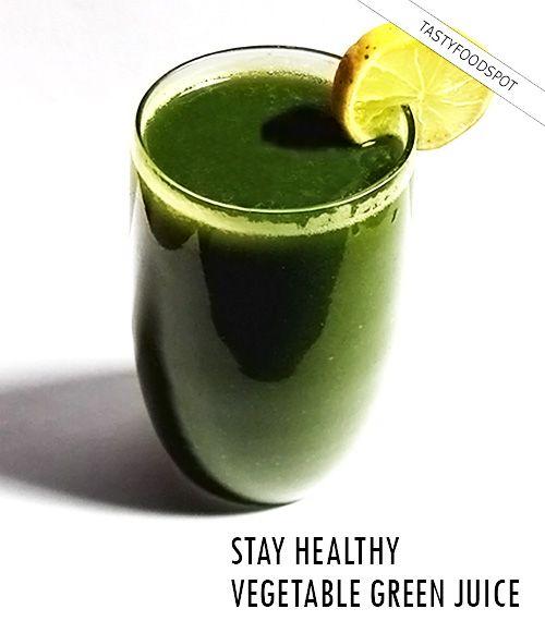 Fotografía - Receta del jugo verde sana y refrescante