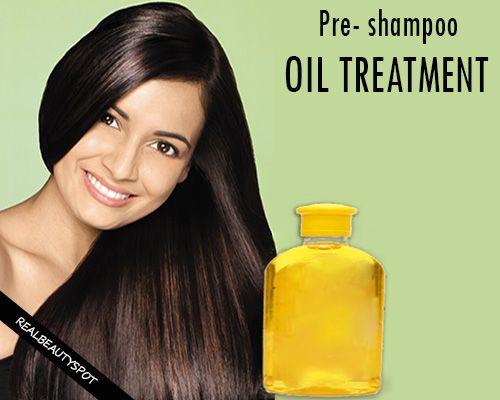 Fotografía - Champú de tratamiento de aceite de pelo de Pre para un cabello saludable