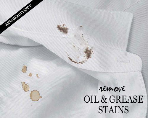 Fotografía - Eliminar aceite o grasa manchas y manchas de comida de la ropa
