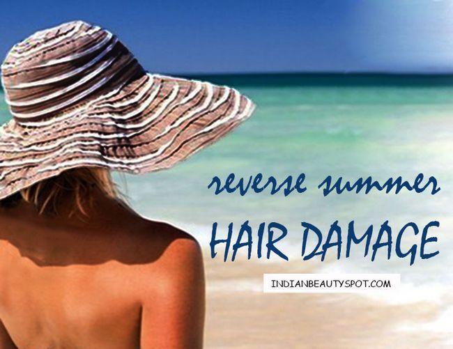 Fotografía - El daño del cabello verano inversa