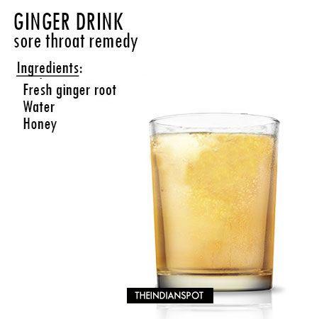 Fotografía - Remedio Dolor de garganta con la bebida de jengibre receta