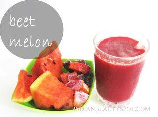 Fotografía - Bebida del verano - jugo de melón beet-