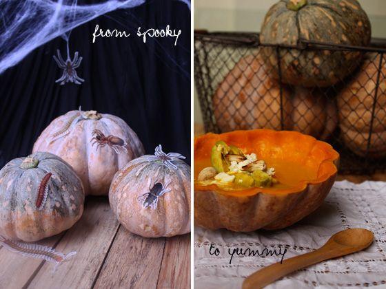 Fotografía - Dé vuelta a su calabaza de Halloween en la sopa