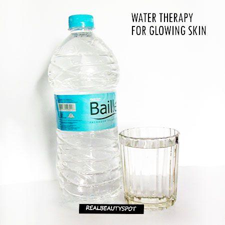 Fotografía - Terapia de agua para la piel que brilla intensamente