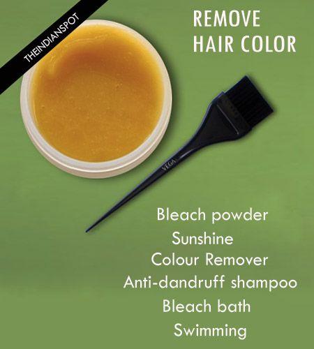 Fotografía - Formas de eliminar el color del pelo fácilmente